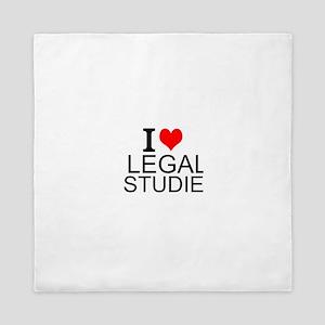 I Love Legal Studies Queen Duvet
