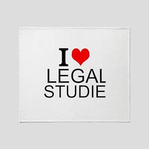 I Love Legal Studies Throw Blanket