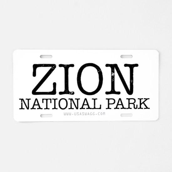 Zion National Park ZNP Aluminum License Plate