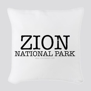 Zion National Park ZNP Woven Throw Pillow