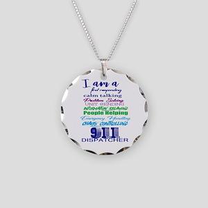 911 Dispatch Necklace Circle Charm