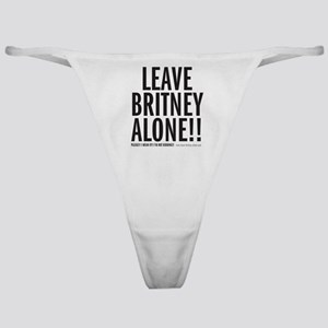 Leave Britney Alone Classic Thong