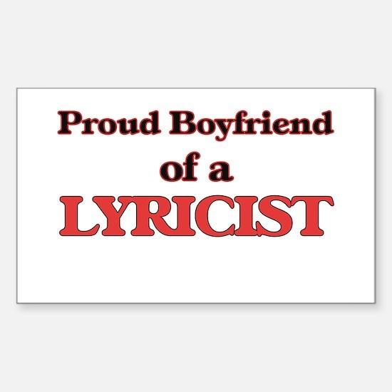 Proud Boyfriend of a Lyricist Decal