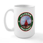 Illinois Free Mason Large Mug