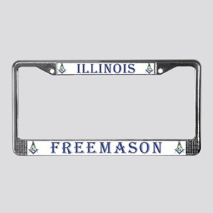 Illinois Free Mason License Plate Frame