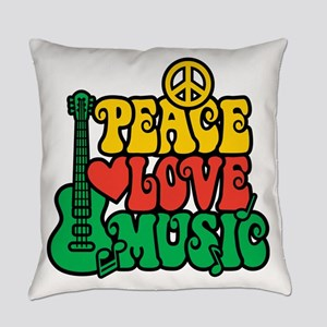 Reggae Peace Love Music Everyday Pillow