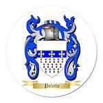Poletto Round Car Magnet