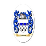 Poletto 35x21 Oval Wall Decal