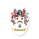 Pointing Oval Car Magnet