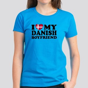 I Love My Danish Boyfriend Women's Dark T-Shirt