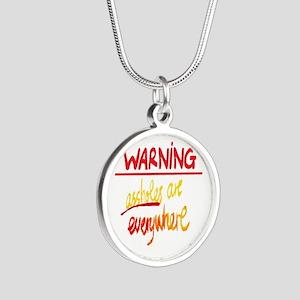 warning: assholes Necklaces