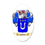 Podoly Oval Car Magnet