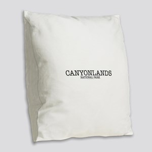 Canyonlands National Park ZNP Burlap Throw Pillow