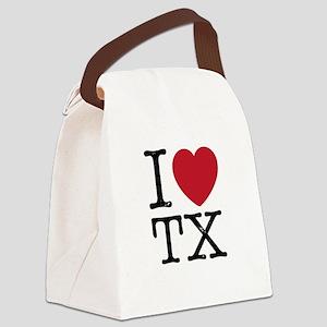 I Love TX Texas Canvas Lunch Bag