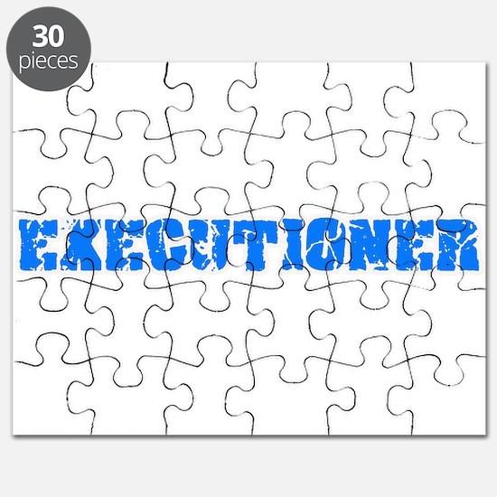 Executioner Blue Bold Design Puzzle