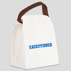 Executioner Blue Bold Design Canvas Lunch Bag