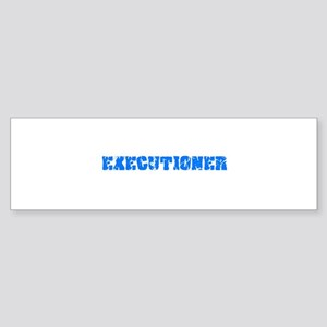 Executioner Blue Bold Design Bumper Sticker