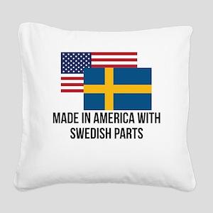 Swedish Parts Square Canvas Pillow