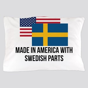 Swedish Parts Pillow Case