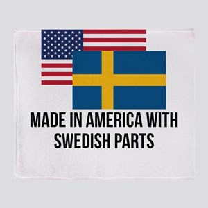 Swedish Parts Throw Blanket