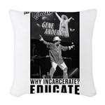 GENE ANDERSON Woven Throw Pillow