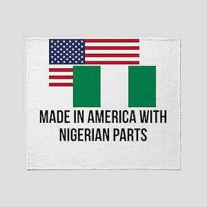 Nigerian Parts Throw Blanket