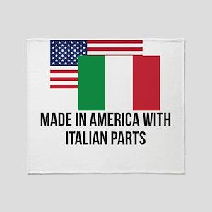 Italian Parts Throw Blanket