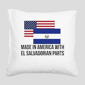 El Salvadorian Parts Square Canvas Pillow