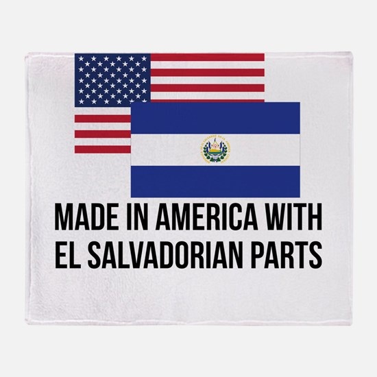 El Salvadorian Parts Throw Blanket