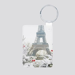 Winter in Paris Keychains