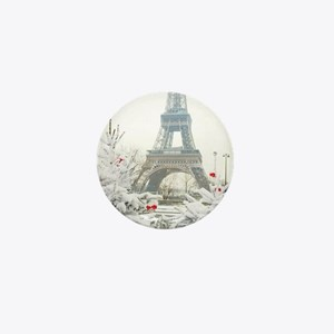 Winter in Paris Mini Button