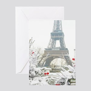 Winter in Paris Greeting Cards
