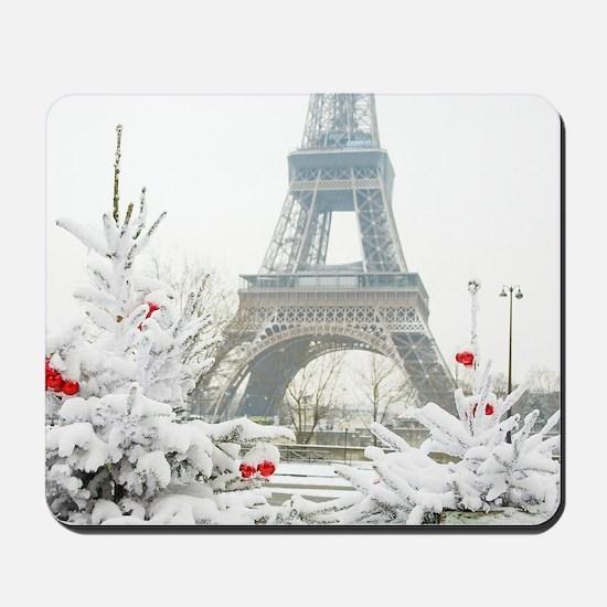 Winter in Paris Mousepad