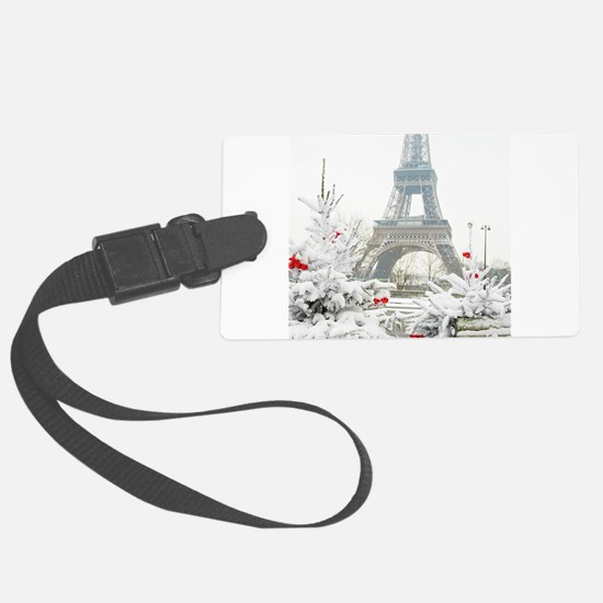 Winter in Paris Luggage Tag