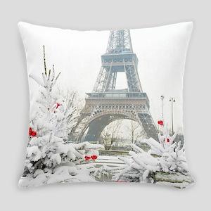 Winter in Paris Everyday Pillow