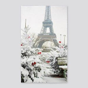 Winter in Paris Area Rug