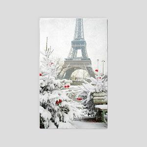 Winter in Paris Area Rug