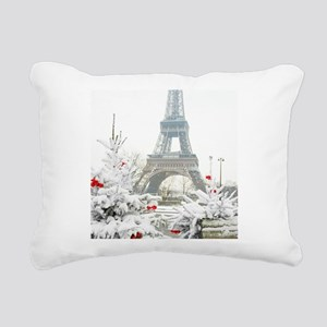 Winter in Paris Rectangular Canvas Pillow
