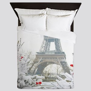 Winter in Paris Queen Duvet