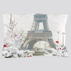 Winter in Paris Pillow Case
