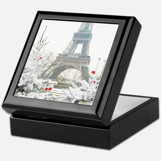 Winter in Paris Keepsake Box