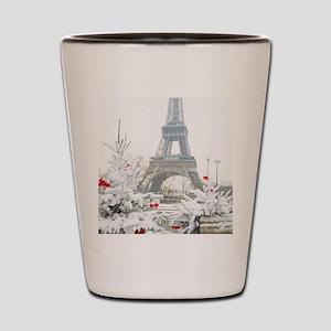 Winter in Paris Shot Glass