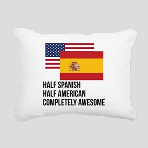 Half Spanish Completely Awesome Rectangular Canvas