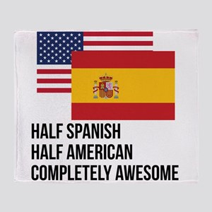 Half Spanish Completely Awesome Throw Blanket