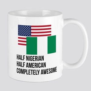 Half Nigerian Completely Awesome Mugs