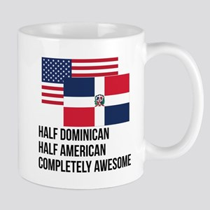 Half Dominican Completely Awesome Mugs