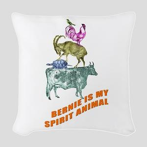 Bernie is my Spirit Animal Woven Throw Pillow