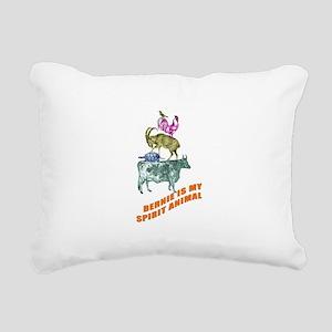 Bernie is my Spirit Anim Rectangular Canvas Pillow