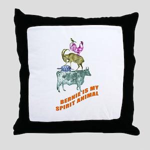 Bernie is my Spirit Animal Throw Pillow