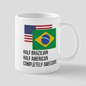 Half Brazilian Completely Awesome Mugs